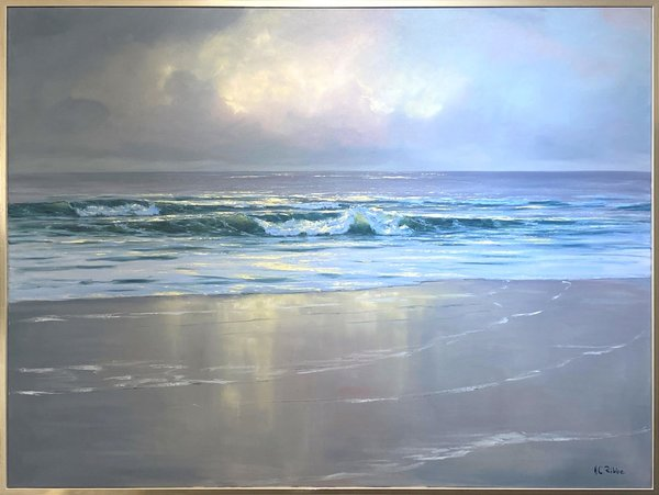 Hans Christian Ribbe - Waves at Sunrise